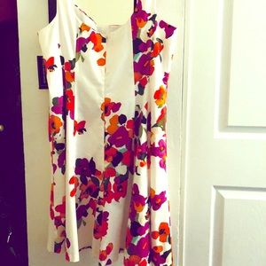 ♦️SALE!♦️Floral Dress Plus Sz 18 Formal 98% cotton